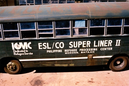 An ICMC truck in the Philippines